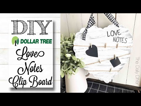 Xxx Mp4 DIY Dollar Tree Love Notes Clip Board 3gp Sex