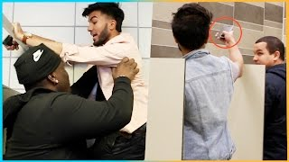 Taking PICTURES in BATHROOM Prank (Gone Wrong)