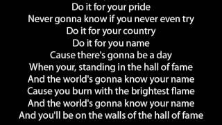 The Script Hall Of Fame (Original Version) lyrics