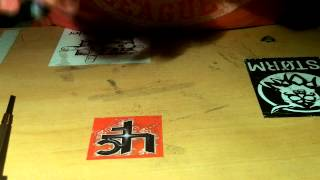 how to put foam grip tape on a fingerboard