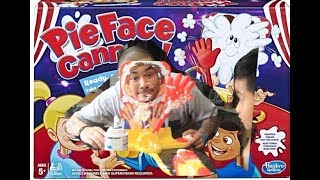 PIE FACE CANNON CHALLENGE | MESSY BUT FUN GAME