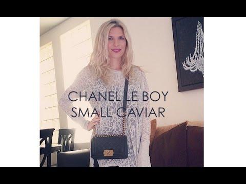 Chanel le boy small caviar