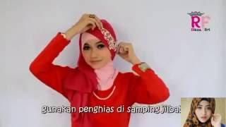 Tutorial Hijab Paris Segi Empat Dua Warna Special Ramadhan & Lebaran 2016