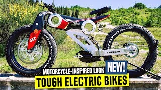 8 Electric Motorcycle-inspired Bicycles w/ Oversized Fat Tires and Amazing Looks