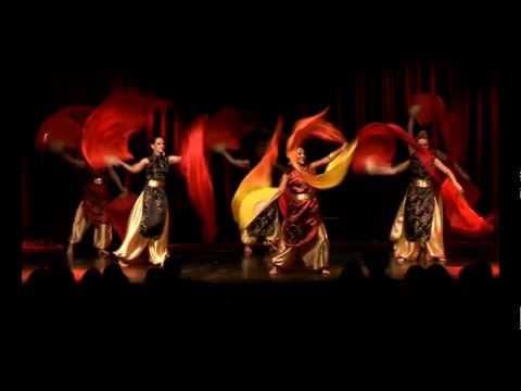 Fire Dancers Fan Veil