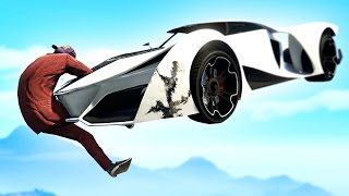 EXTREME RUNNERS vs. FLYING CARS! (GTA 5 Funny Moments)