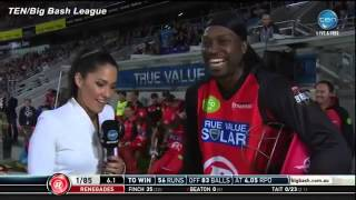 Chris Gayle makes sleazy remarks to reporter in awkward interview