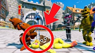 WITHERED FREDDY POOPS ON CHICA PRANK! (GTA 5 Mods For Kids FNAF Funny Moments)