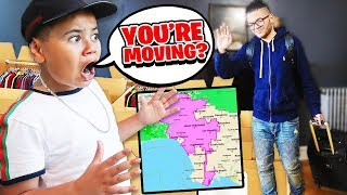 I TOLD MY LITTLE BROTHER I MOVED TO LA PRANK!!! *HE THOUGHT I WAS MISSING* COPS CALLED?? 💔