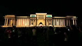 2013 naadam 3D laser show Sukhbaatar talbai