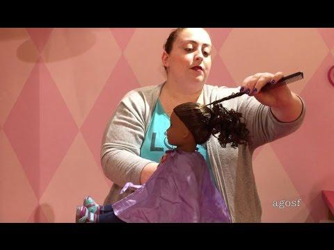 American Girl Doll Gabriela Visits The AG Hair Salon and Gets Her Ears Pierced