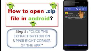 How to open zip / rar file in android ?