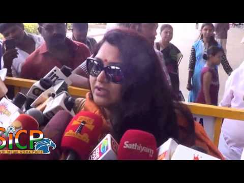 Actress Kushboo Press meet at Madurai airport
