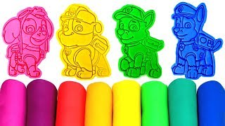 Paw Patrol Play Doh Molds Surprise Toys & Paw Patrol Drawing with Skye Everest Chase Rubble Rocky