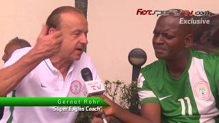 Exclusive Interview with Super Eagles Coach, Gernot Rohr in Port Harcourt