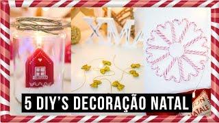 5 DIY's de DECORAÇÃO DE NATAL - SÉRIE de NATAL 2016 | Alice Trewinnard