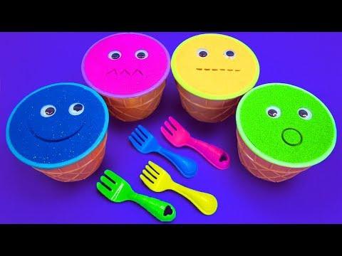 Xxx Mp4 4 Colors Kinetic Sand Ice Cream Cups PJ Mask Vehicles Kinder Surprise Eggs Cars Surprise Toys 3gp Sex