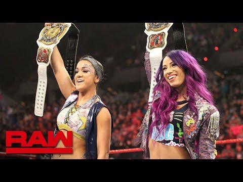 Xxx Mp4 Sasha Banks Bayley Celebrate Their WWE Women S Tag Team Championship Victory Raw Feb 18 2019 3gp Sex