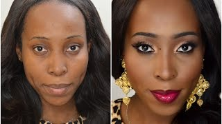 Makeup Tutorial  - My Flawless Full Face Foundation Routine for Dark Skin, Women of colour, Africans