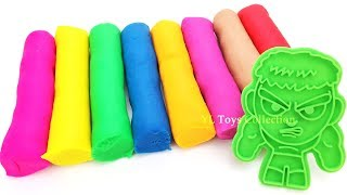 Learn Colors with Play Doh Modelling Clay and Marvel Avengers Cookie Cutter Surprise Mr Potato Head