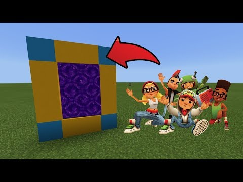 Xxx Mp4 How To Make A Portal To The Subway Surfers Dimension In MCPE Minecraft PE 3gp Sex