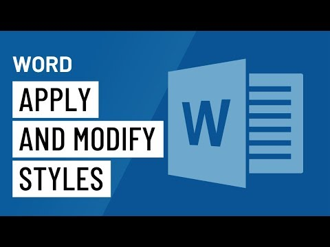 Word Applying and Modifying Styles