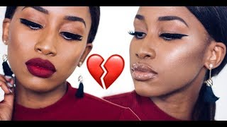 QUICK AND EASY VALENTINE LOOK\ BOLD EYE LINNER TUTORIAL\RED LIPS