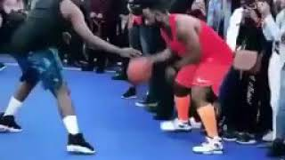 Cassper Nyovest shows off his basket ball skills