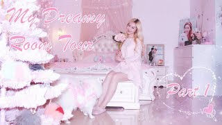 MY DREAMY ROOM TOUR 🌸🦄🌸 GIRLY PINK WONDERLAND 💖🎀🌸 PART 1 💖