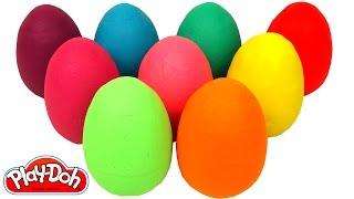 Aprende los Colores con 9 Huevos Sorpresas Coloridos