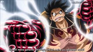 Luffy (Ruffy) VS Doflamingo Gear 4 !!! (Fourth) German Sub Deutsch Sub
