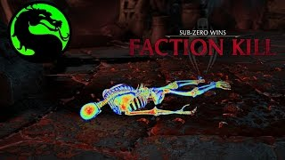 Mortal Kombat X | Silence Faction Kill on Every Character With Every Character! (1080p 60fps)