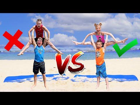 TWINS VS BROS Team Yoga Challenge with the Rybka Twins