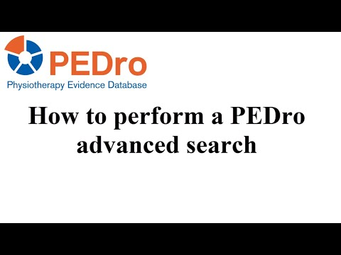 PEDro advanced search - English