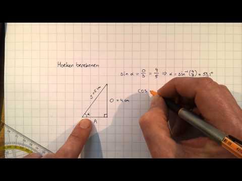 Wiskunde 4C: hoeken berekenen