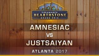 HS - Amnesiac vs Justsaiyan - Hearthstone Grand Prix DreamHack Atlanta 2017