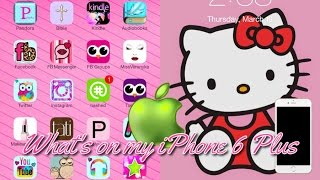 What's on My Cute Pink iPhone 6 PLUS! | Tons of Fun Apps!!