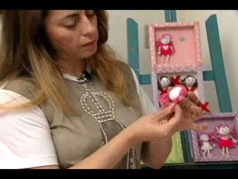 Chaveiro bonequinha Artesanato Manhã Viva