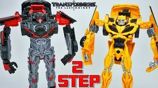 TRANSFORMERS THE LAST KNIGHT 2 STEP FLIP CHANGERS HOT ROD BUMBLEBEE 360 CHANGERS COOL OR NOT?