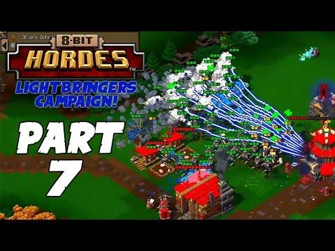 8-Bit Hordes Walkthrough: Part 7 - 3 Star Lightbringers Campaign! - PC Gameplay Playthrough 60fps