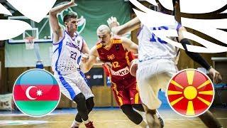 Azerbaijan v MKD - Full Game - FIBA U20 European Championship Division B 2018