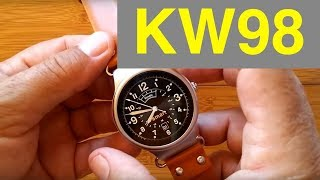 Kingwear KW98 Production Version Smartwatch: Unboxing and Review