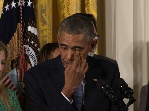 watch Obama Cries Over Deaths From Gun Violence