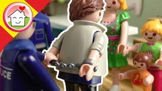Playmobil policía en español Sin poder entrar en casa - Serie para niños con la familia Hauser