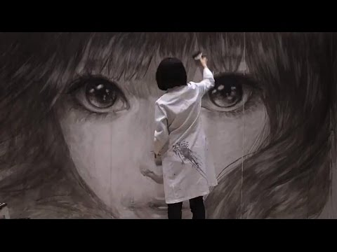 Live Painting Time-Lapse 2014/11/8-9 Machiko Ono