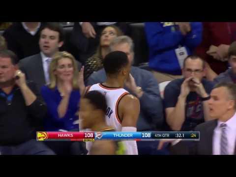 Russell Westbrook Ties the Game Hawks
