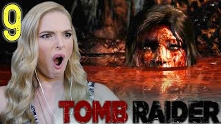 LARA IS NOW LITERALLY CRAZY- Tomb Raider Walkthrough- Part 9