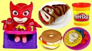 PJ MASKS OWLETTE Playdoh Kitchen Creations Breakfast Bakery Fruits Pancakes Fun DIY / Toys Unlimited