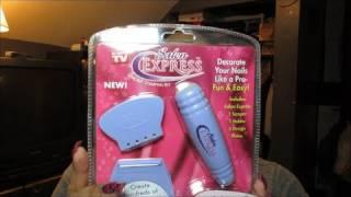 Salon Express Nail Art Stamping Kit Unboxing & Review