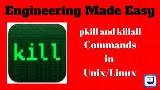 Kill command in Unix   in Hindi   Unit 5